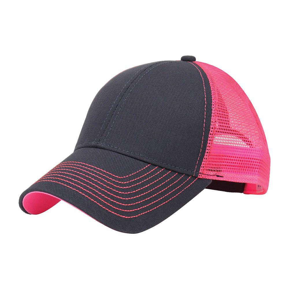 Customized Swoosh and Tail Neon Heavy Trucker Mesh Cap
