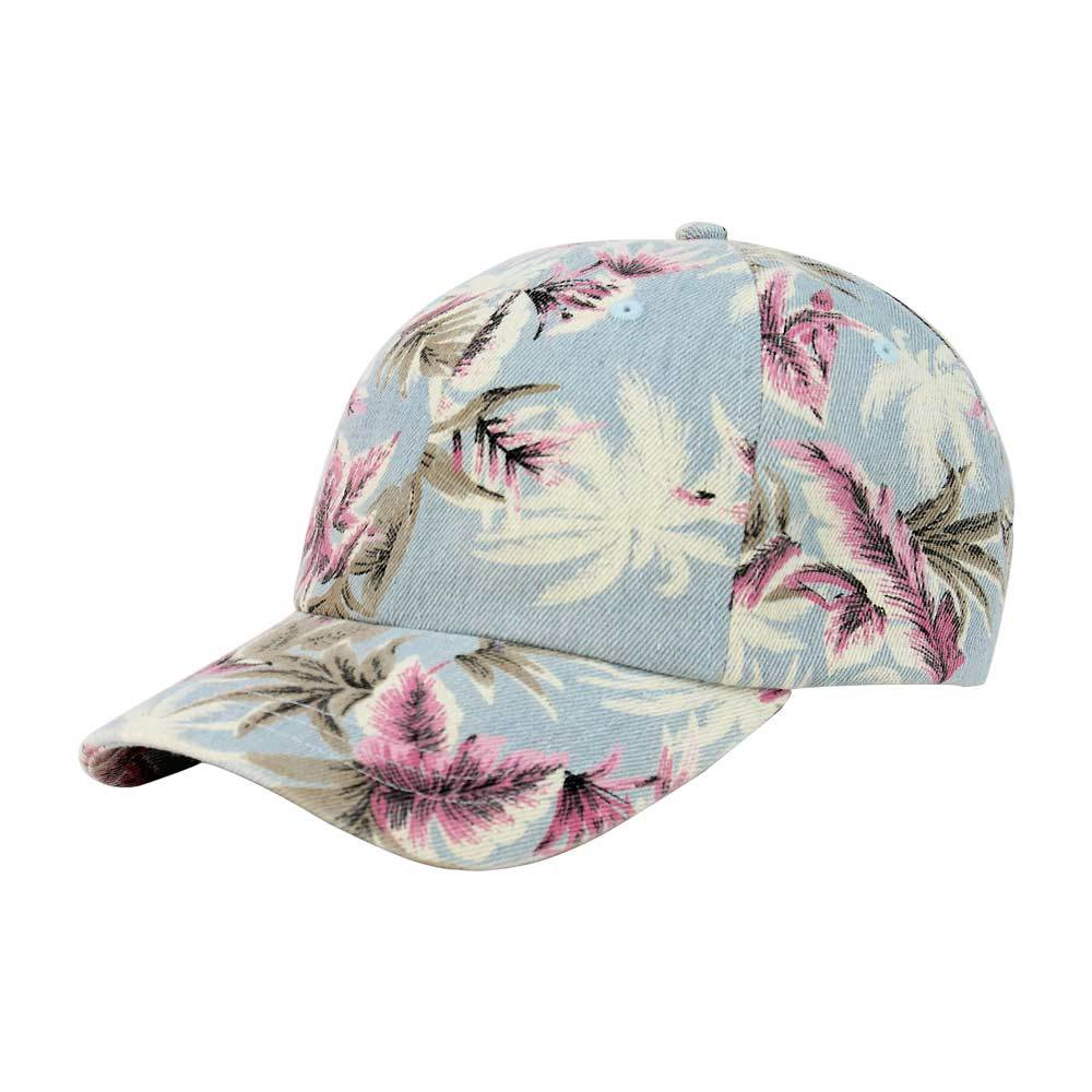 Customized Monogram Floral Denim Cap