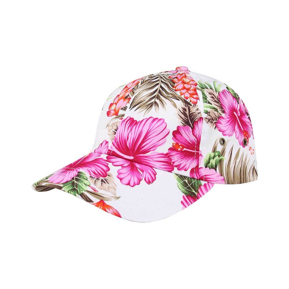 Floral Unstructured Baseball Cap