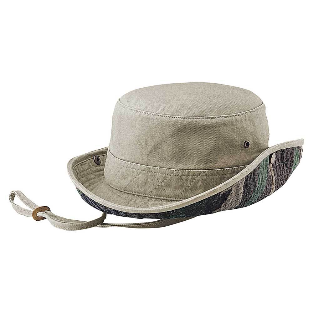 Camo Dyed Twill Bucket Hat