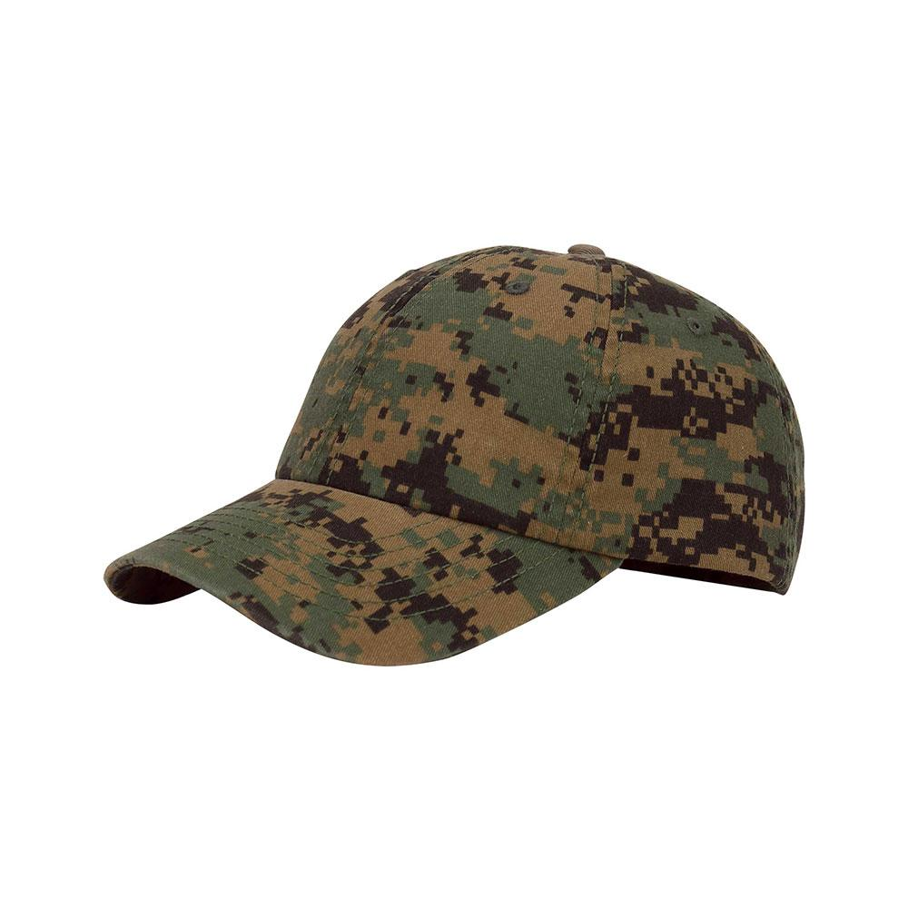 Customized Proud U.S. Dad Enzyme Washed Camouflage Cap
