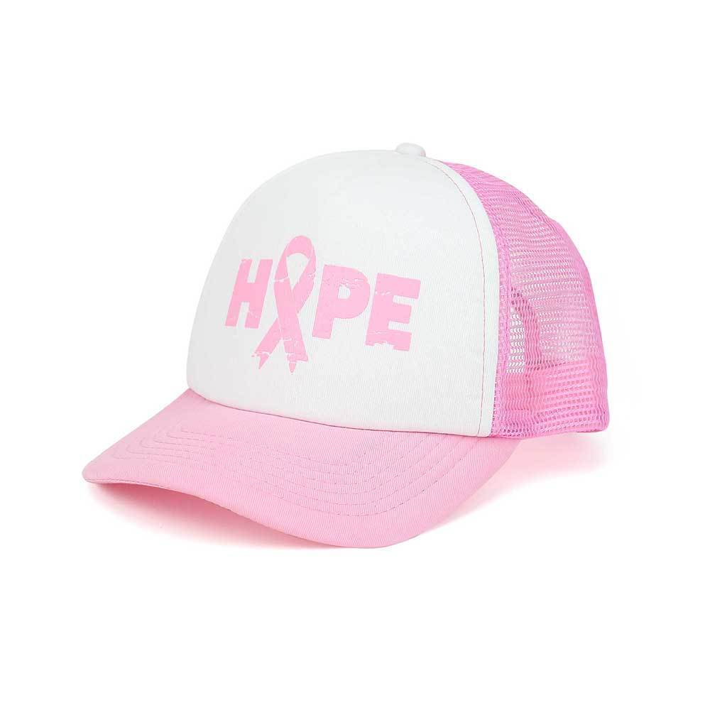 Pink Ribbon Breast Cancer Awareness Trucker Cap