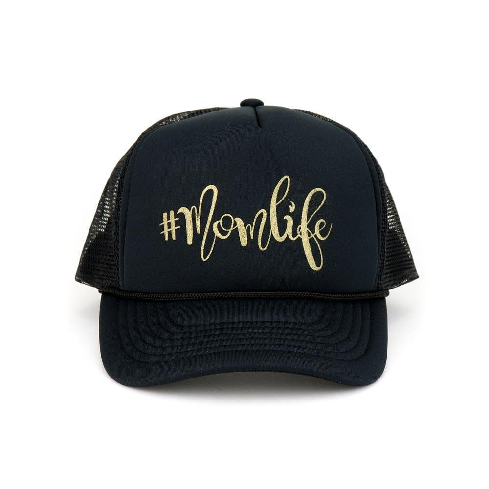 Hashtag Mom Life Cotton Foam Trucker Mesh Cap