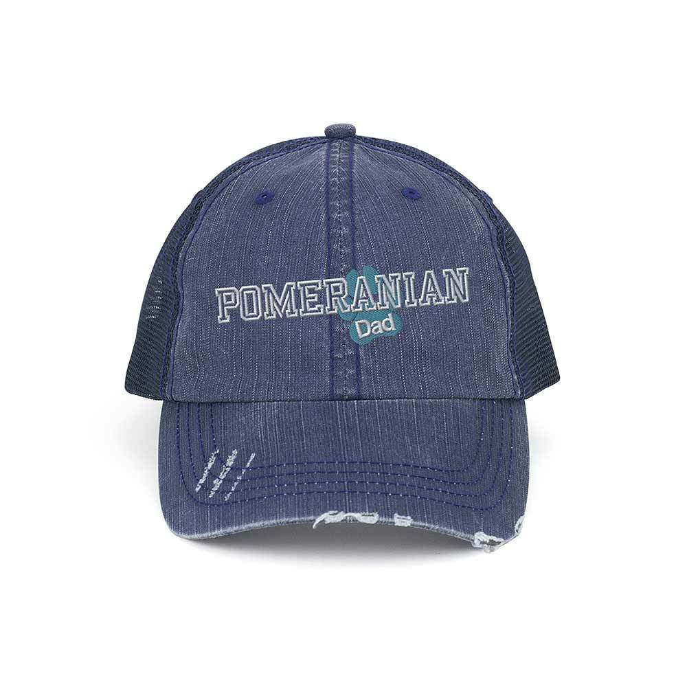 Customized Pet Dad Distressed Trucker Mesh Cap
