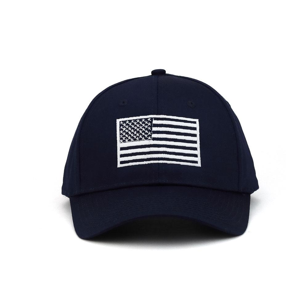 Customized USA Flag Poly Cotton Twill Cap
