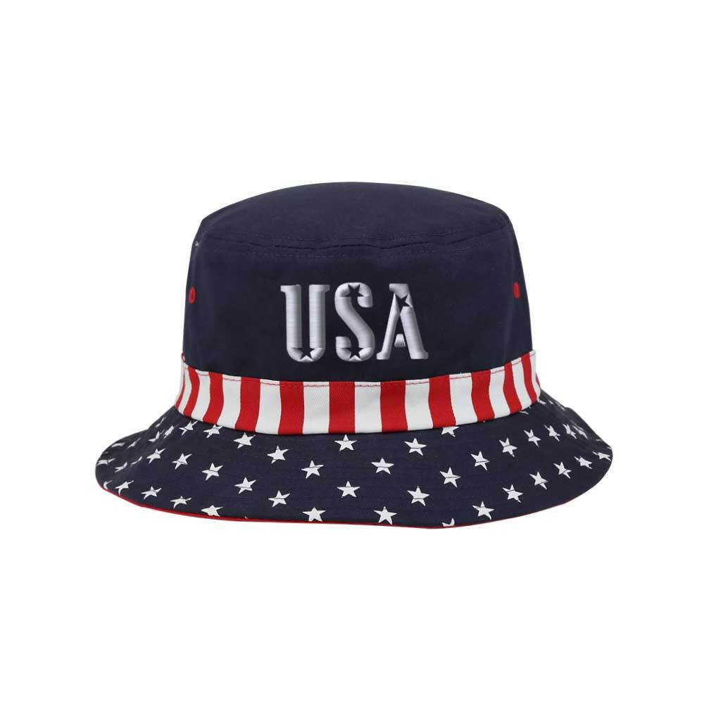 USA Starts   Stripes Bucket Hat – ISelections 64007ba18c0