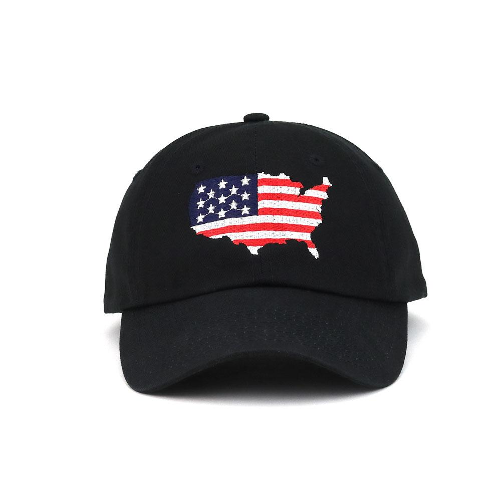 American Flag Low Profile Cotton Cap