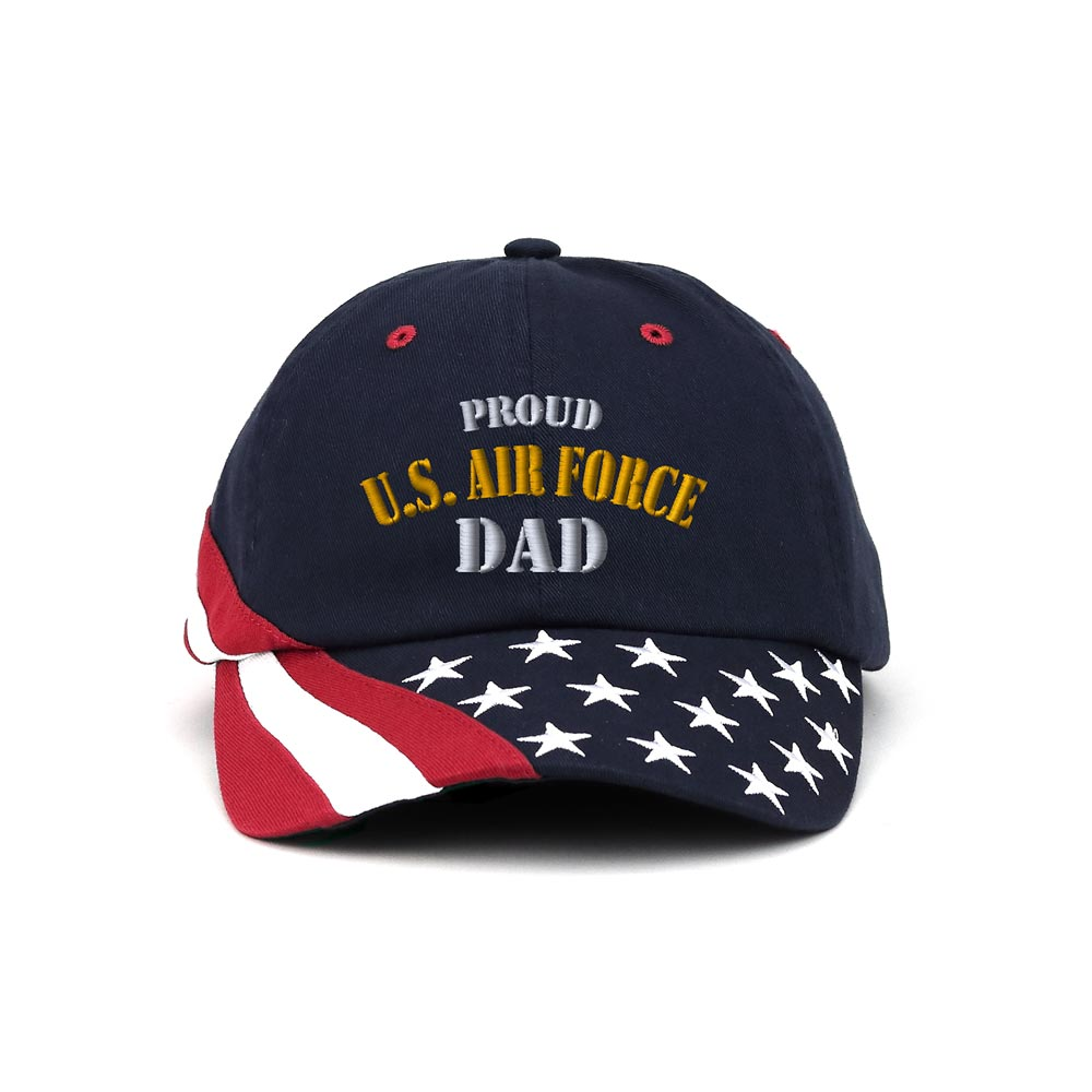 Customized Proud U.S. Dad Unstructured Washed USA Cap