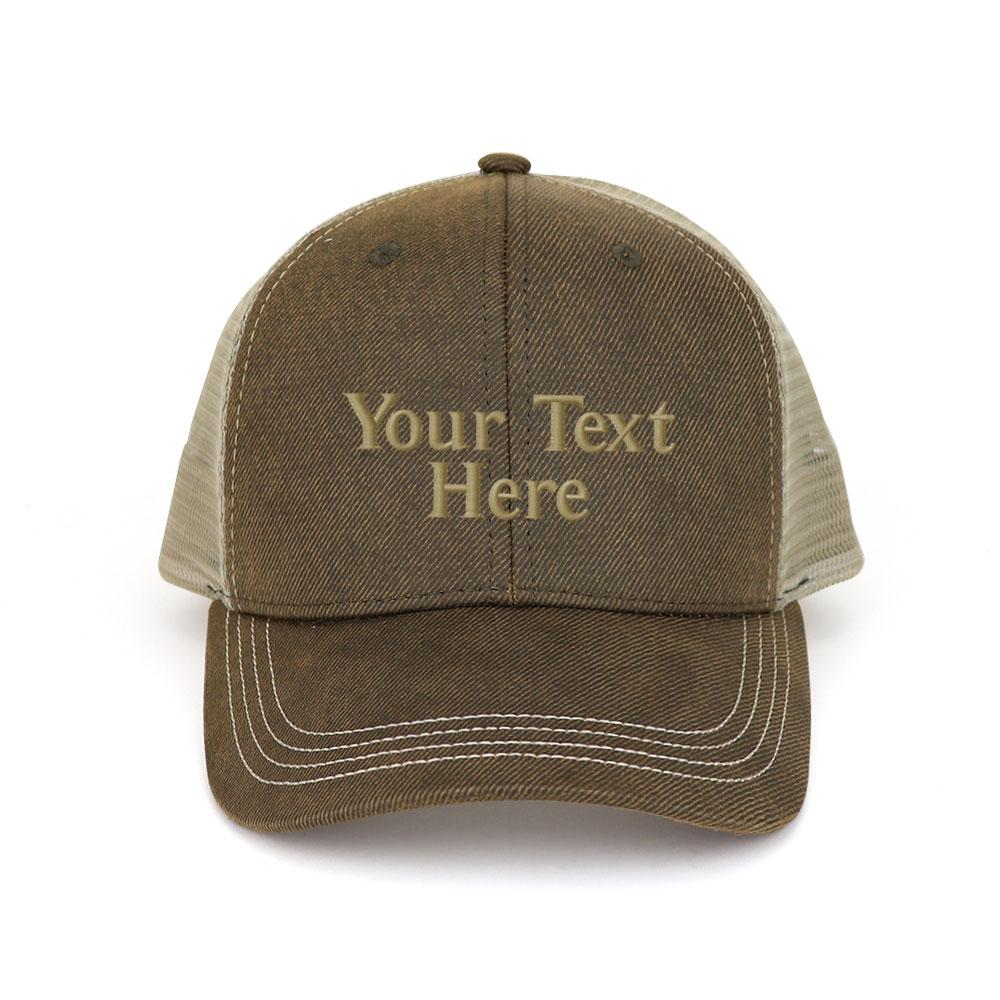 Customized Deluxe Waxed Cotton Trucker Cap