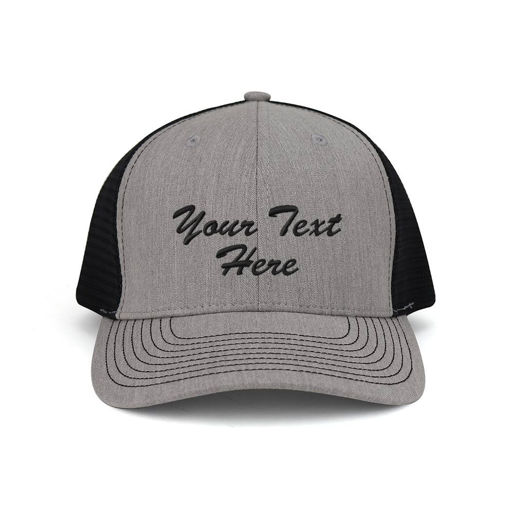 Customized Heather Suiting Trucker Cap