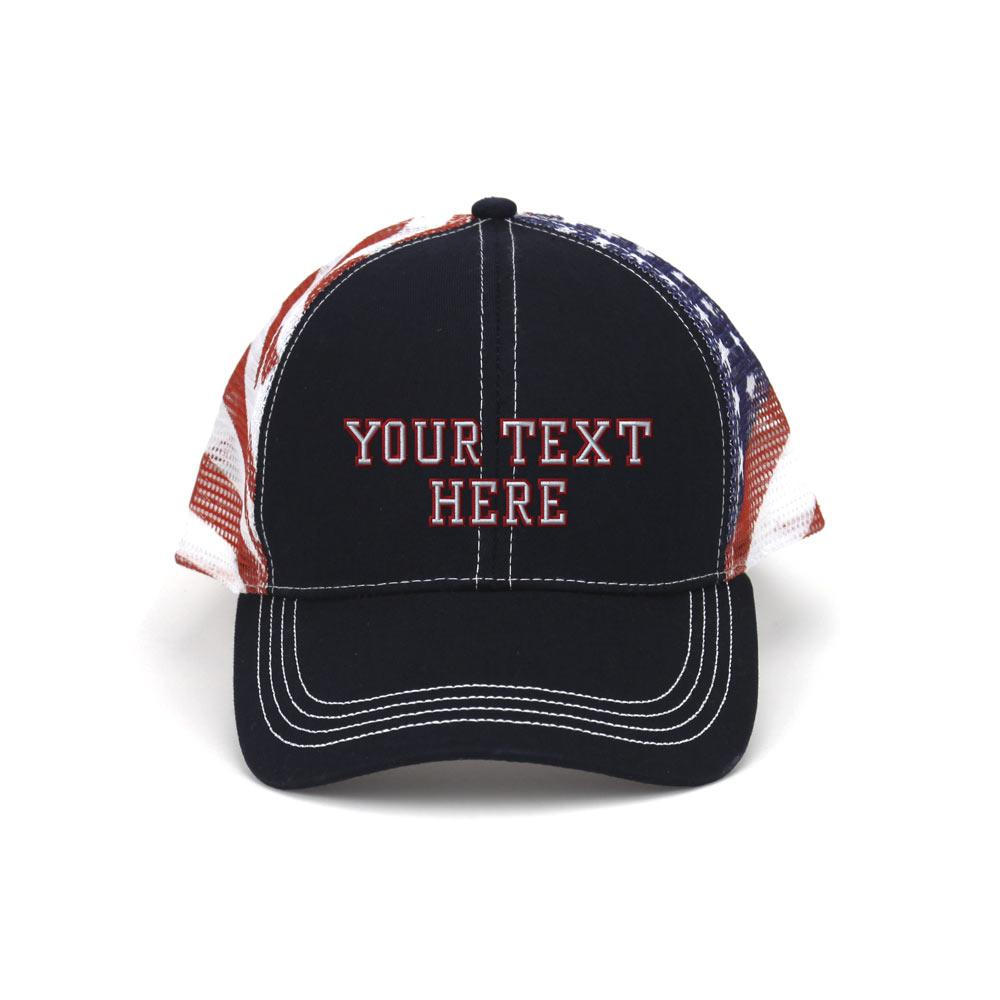 Customized Patriot Trucker Mesh Cap