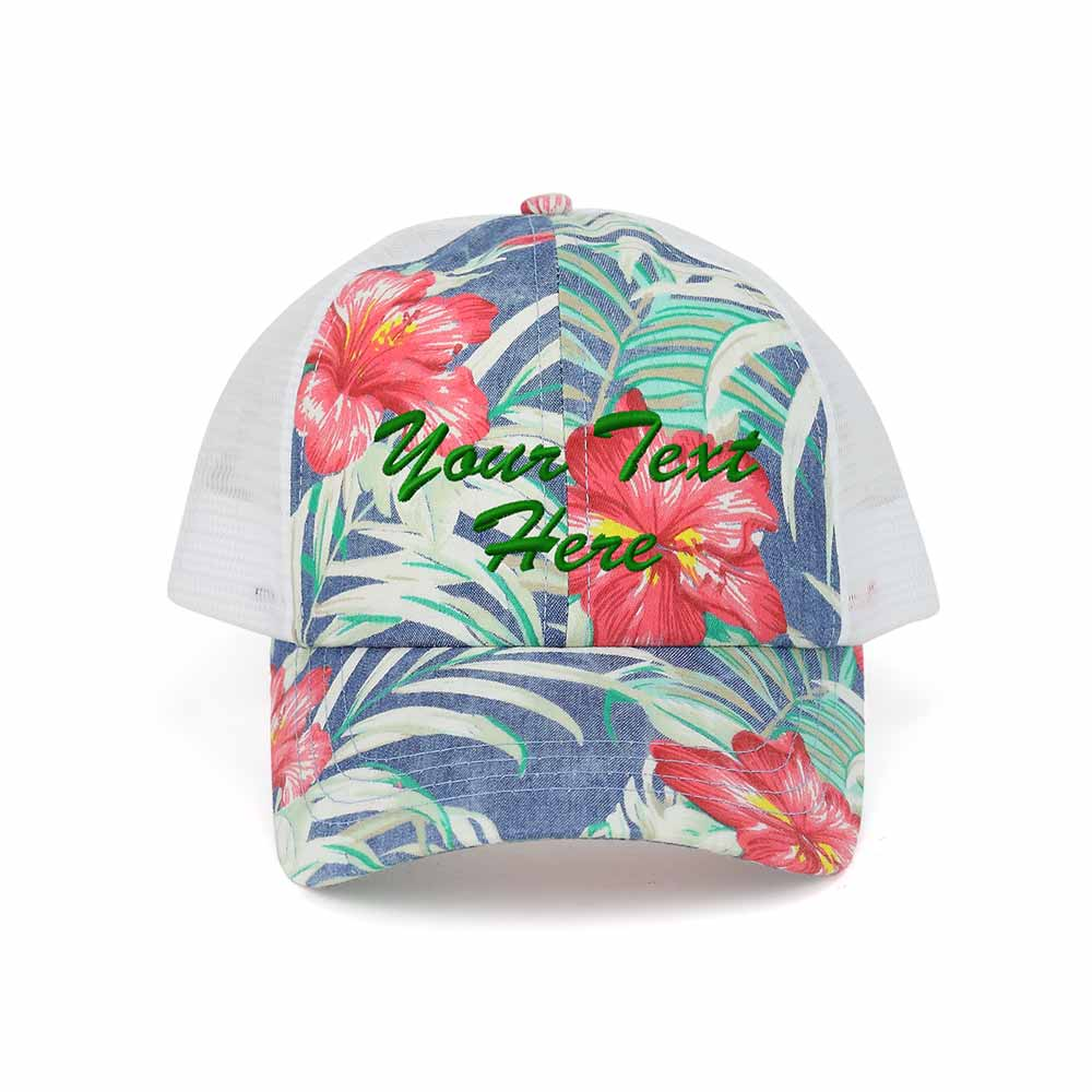 Customized Floral Mesh Cap