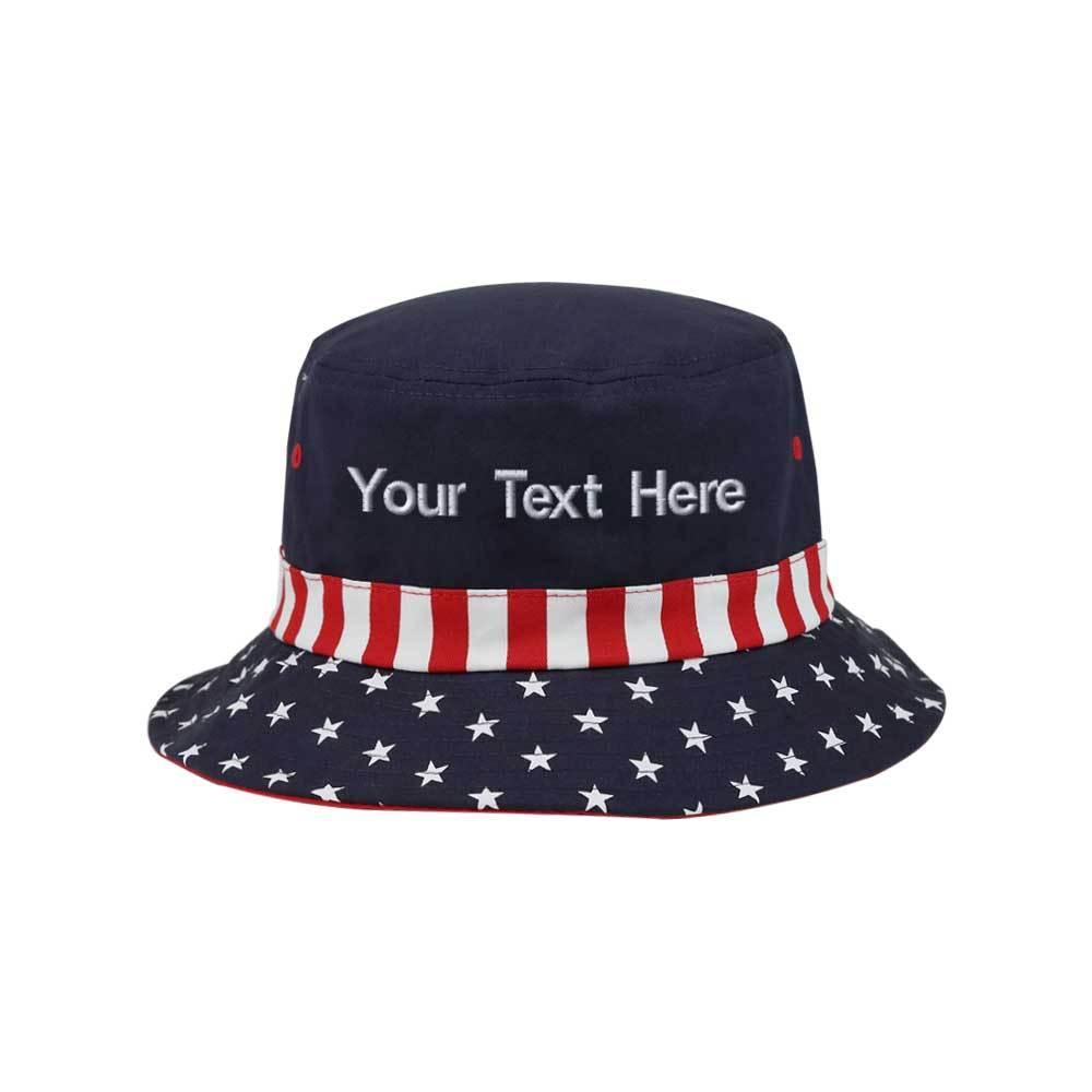 Customized Stars & Stripes Bucket Hat