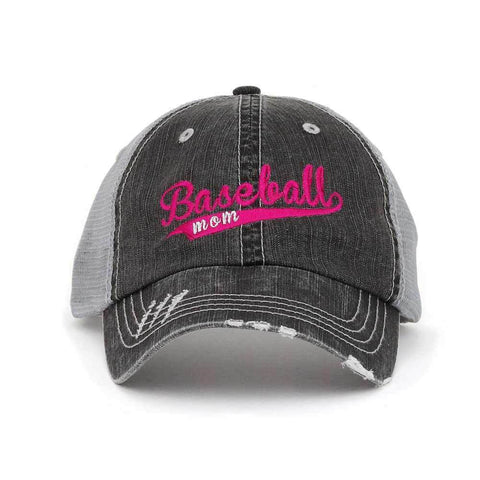 Customized Baseball Mom Trucker Mesh Cap