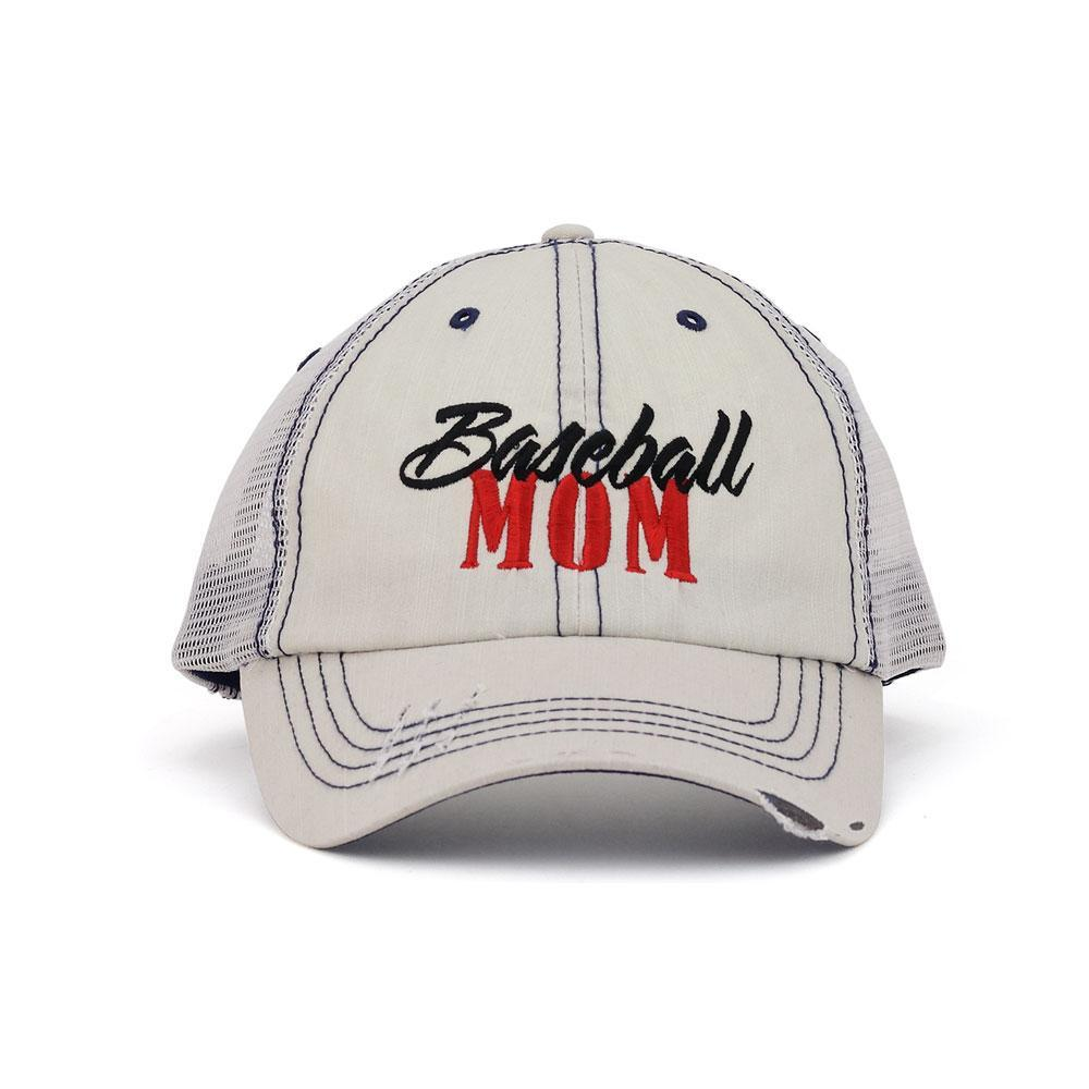 Customized Baseball Mom Twill Mesh Trucker Cap
