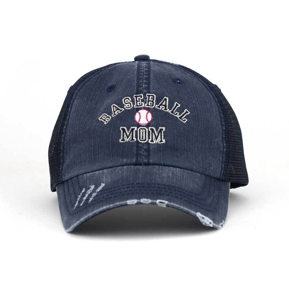 Customized Baseball Mom Twill Trucker Mesh Cap