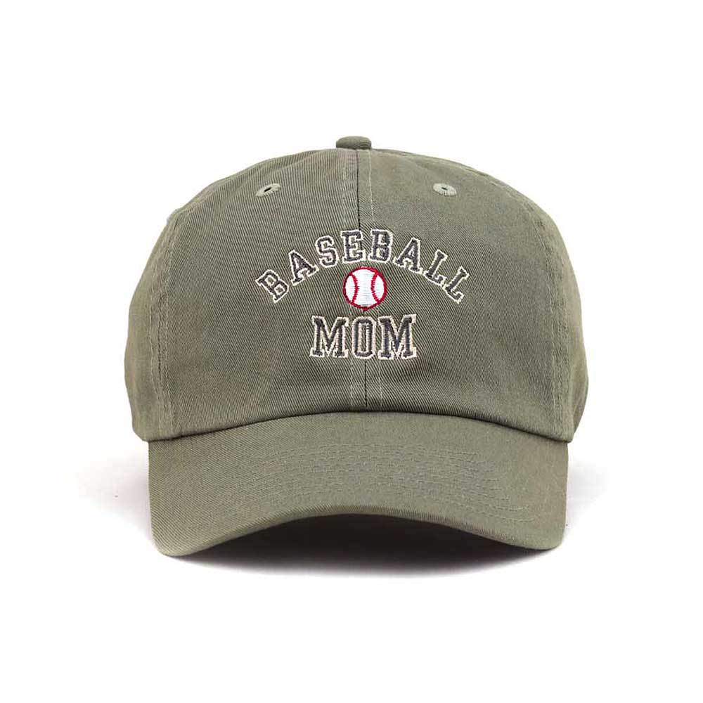 Customized Baseball Mom Graphic Low Profile Cotton Cap