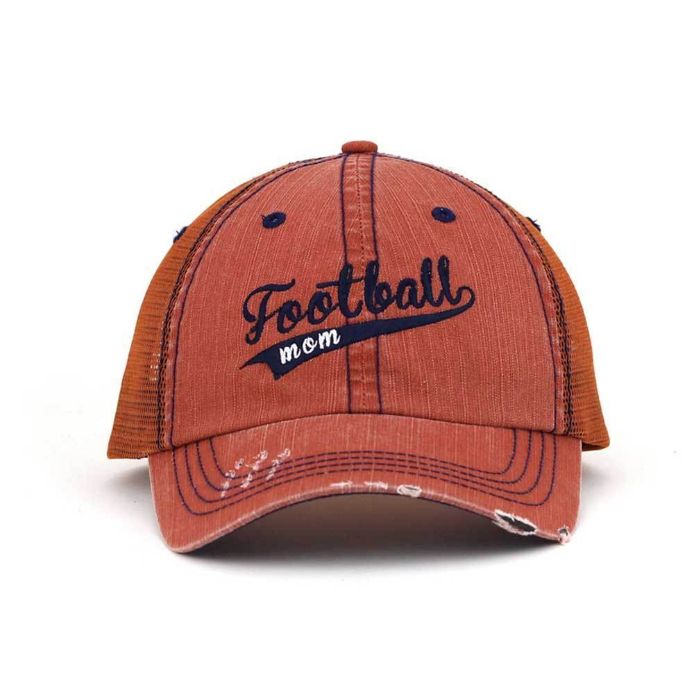 Customized Football Mom Trucker Mesh Cap