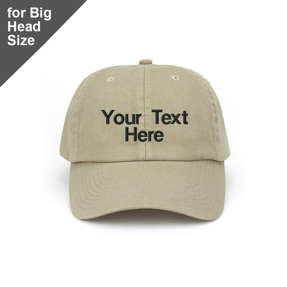 Customized Big Head Cotton Twill Washed Cap