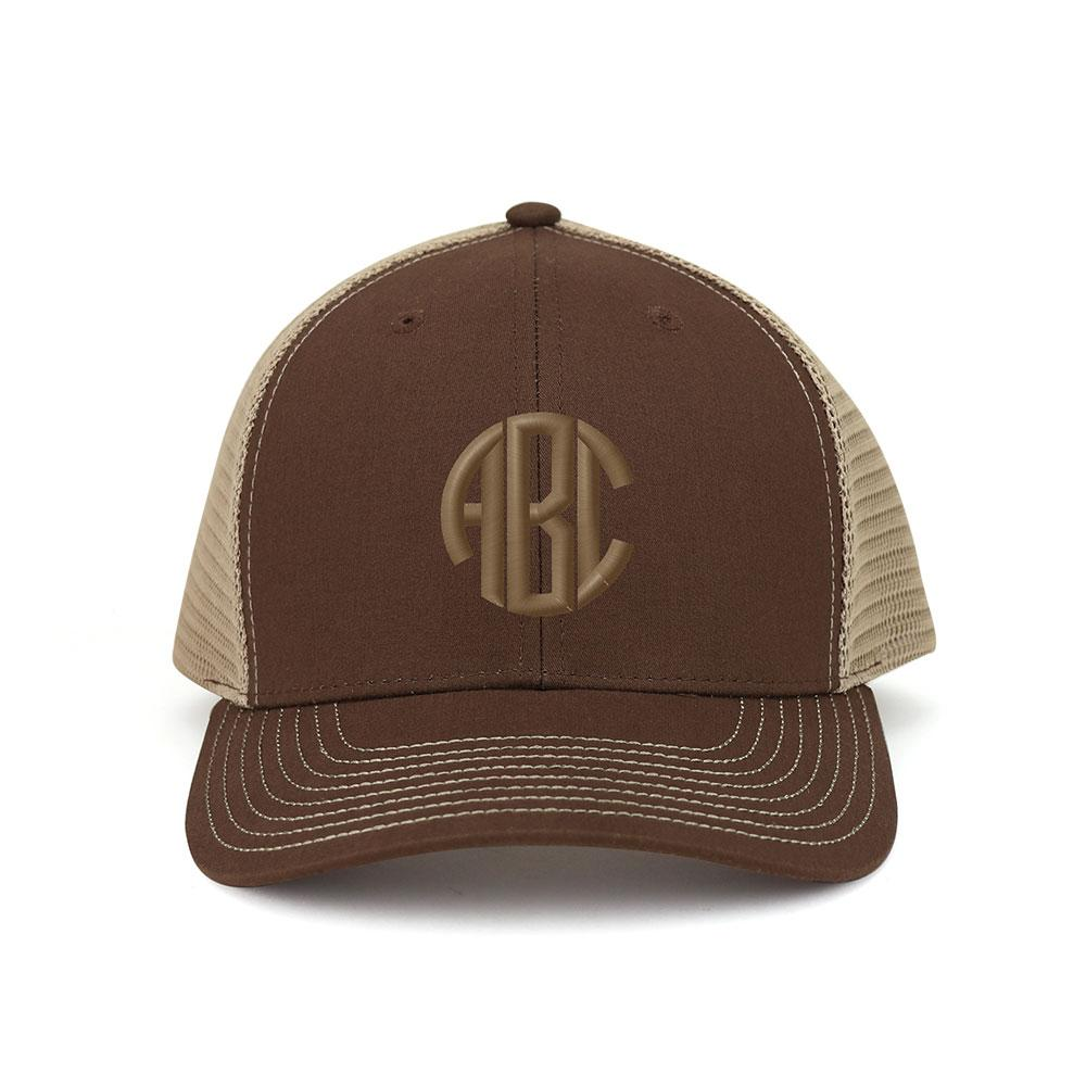 Customized Monogram Deluxe Cotton Trucker Cap
