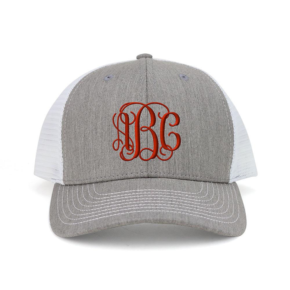 Customized Monogram Heather Suiting Trucker Cap