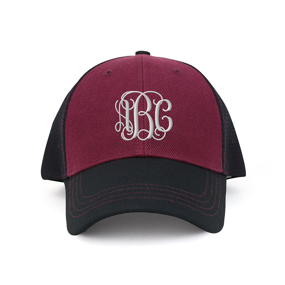 Customized Monogram Deluxe Mesh Trucker Cap