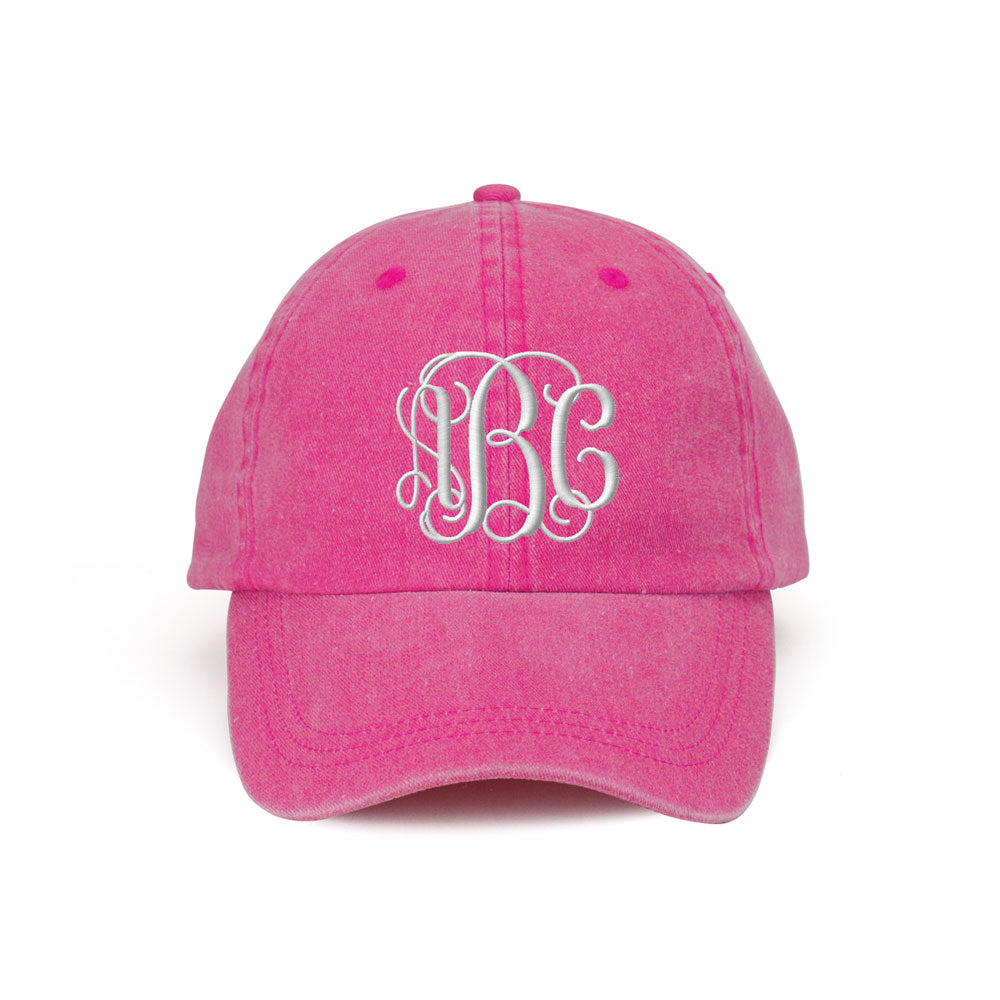 Customized Monogram Washed Cotton Cap