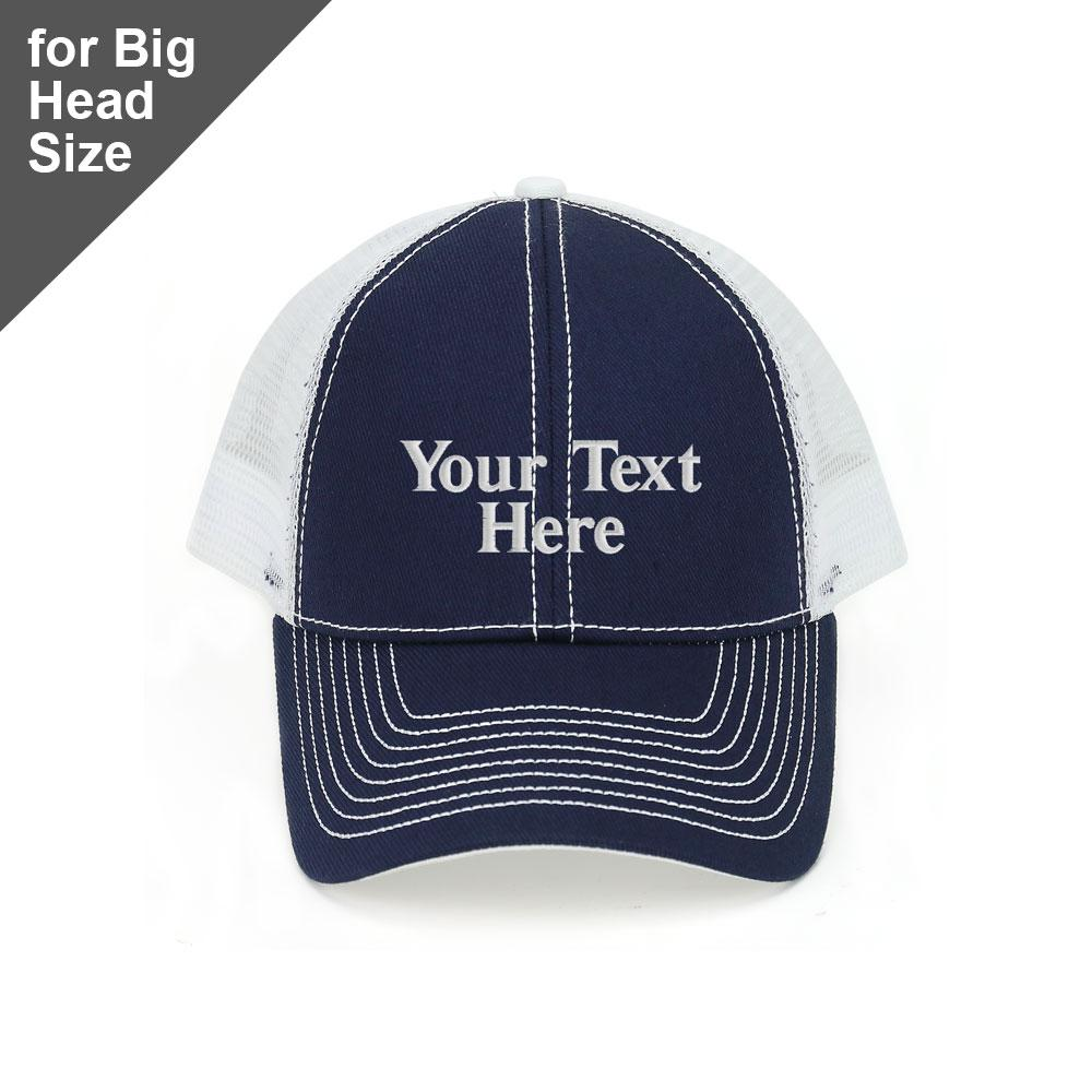 Customized Big Head Structured Trucker Cap