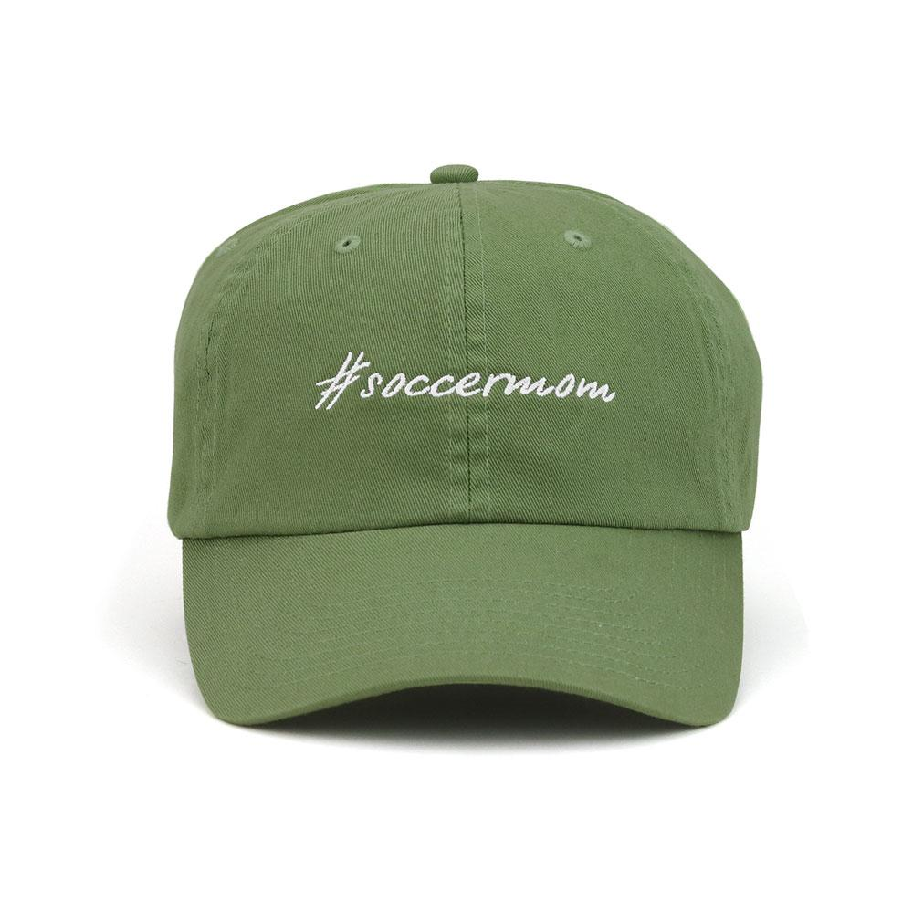 Customized Hashtag Soccer Mom Cotton Cap