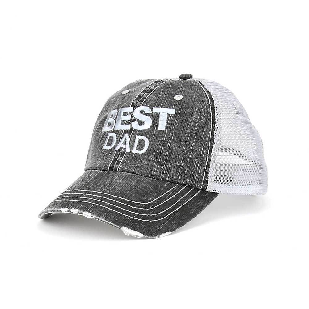 Best Dad Twill Trucker Mesh Cap
