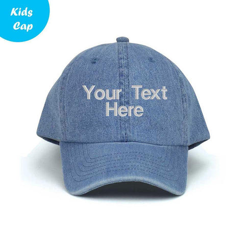 Customized Youth Casual Washed Denim Cap