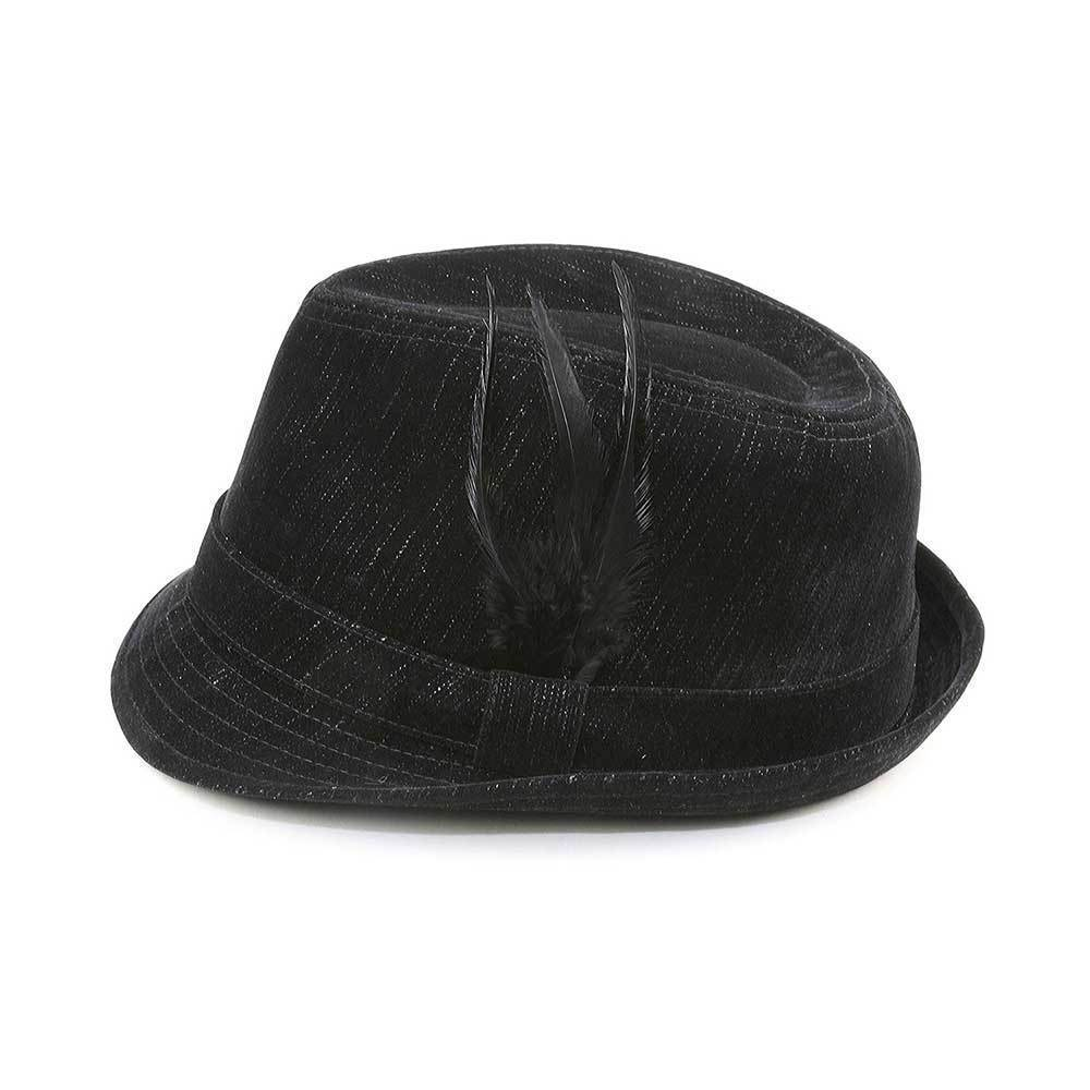 Denim Fedora Hat
