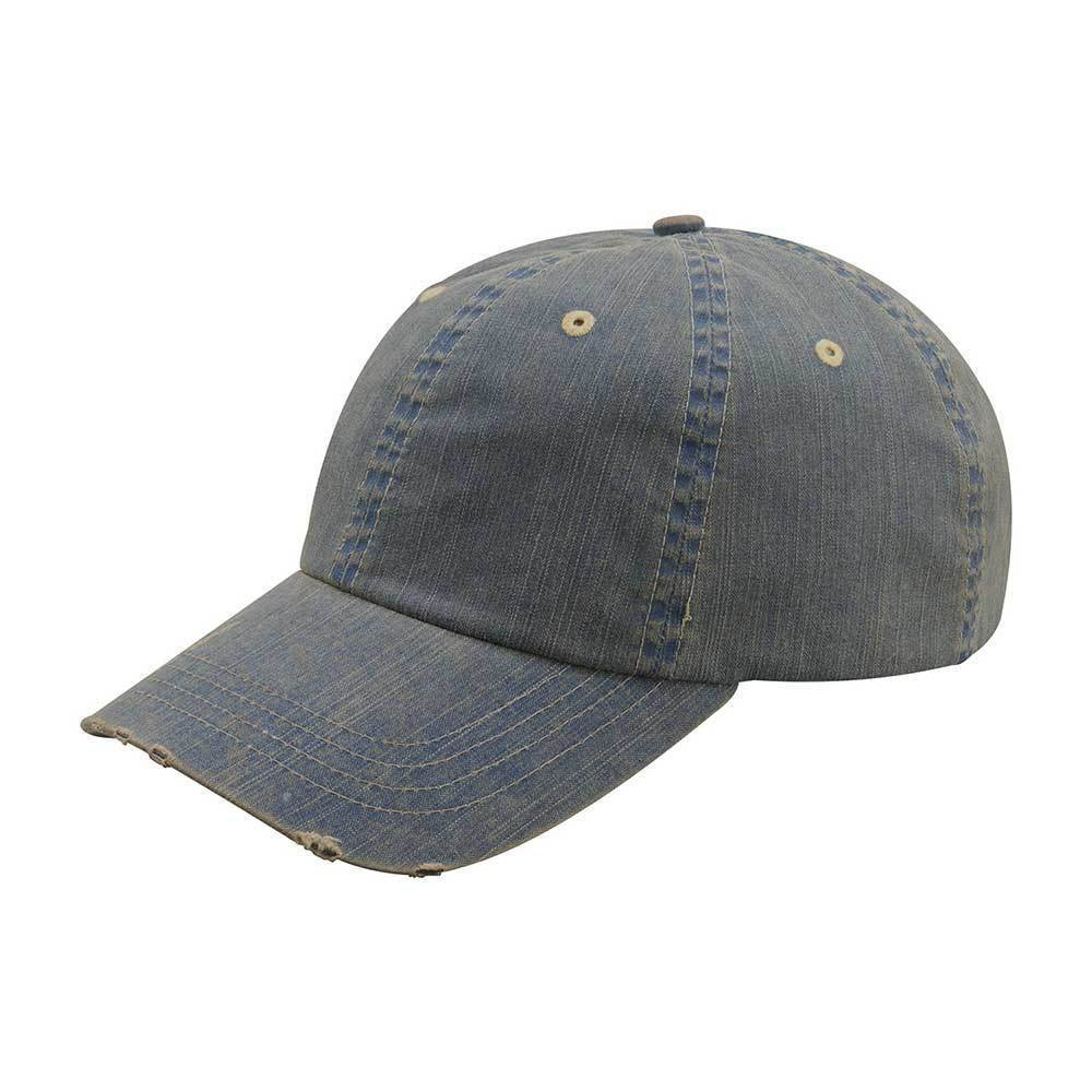 Distressed Dirty Wash Herringbone Cap