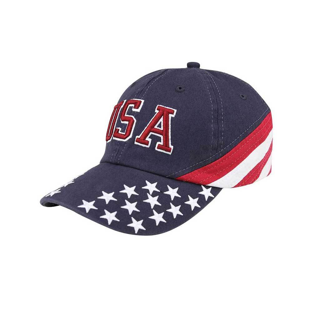 Low Profile Cotton Twill Washed USA Flag Cap