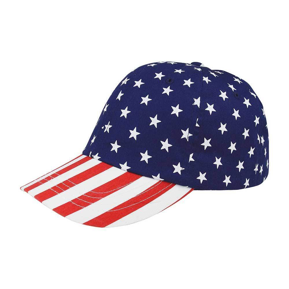 Low Profile USA Flag Print Twill Cap