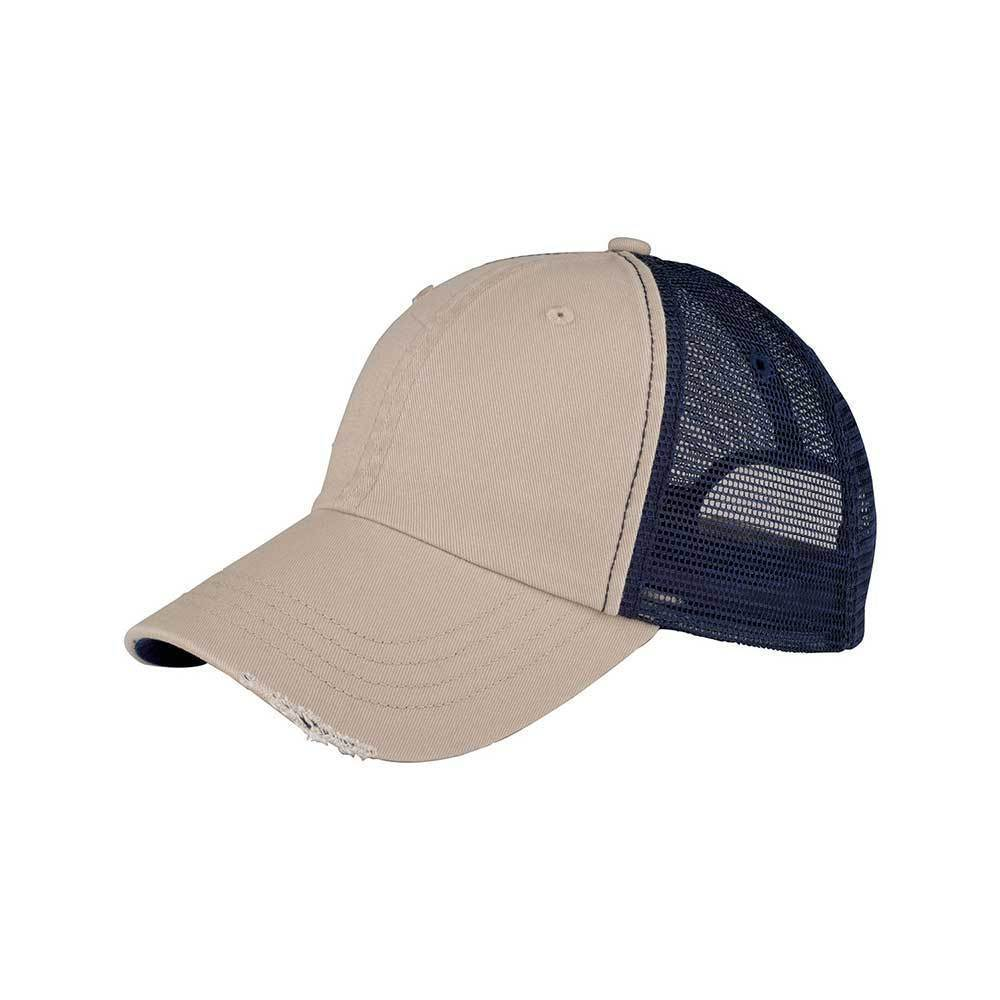 Low Profile Washed Organic Cotton Mesh Cap