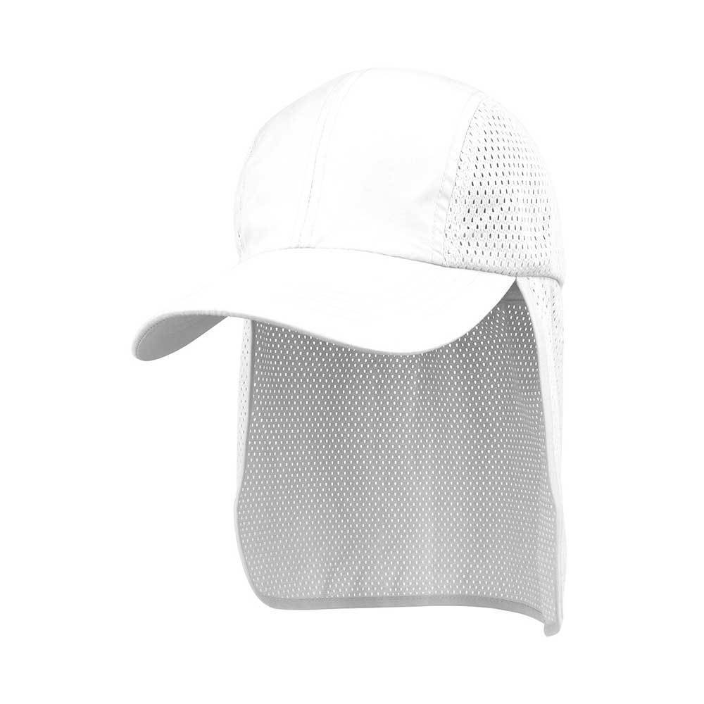 Microfiber Cap With Mesh Flap