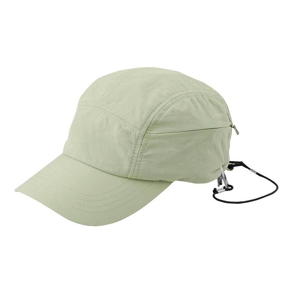 Outdoor Taslon Baseball Cap With Zipper Pocket
