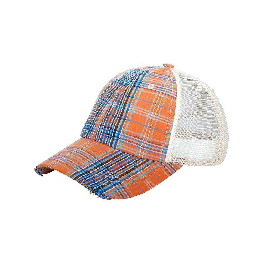 Plaid Mesh Cap