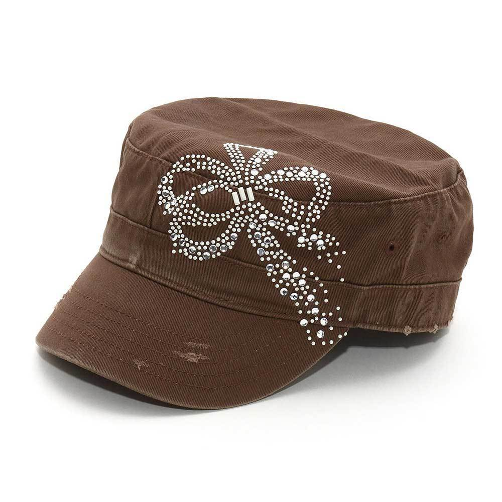 Ribbon Studded Army Cap