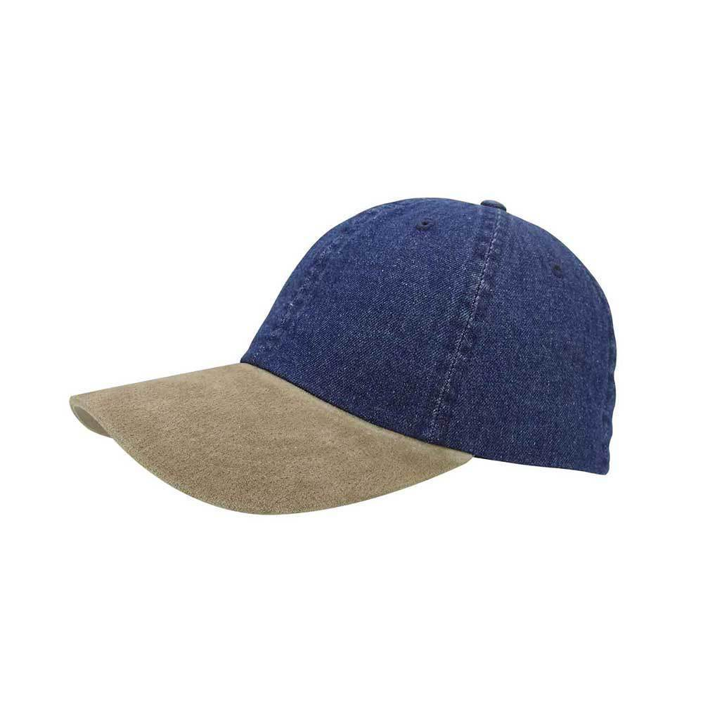Suede Bill Denim Cap