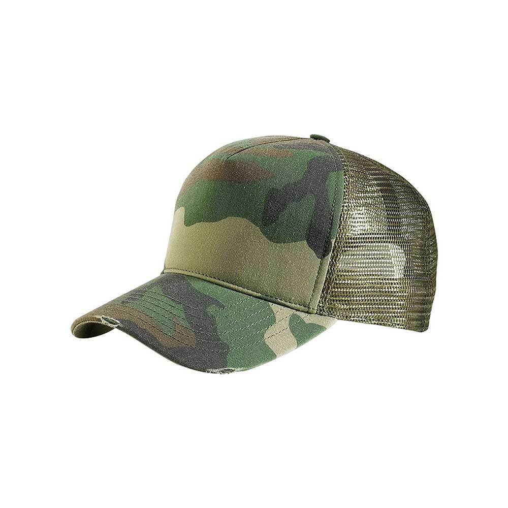 Summer Camo Trucker Washed Cap