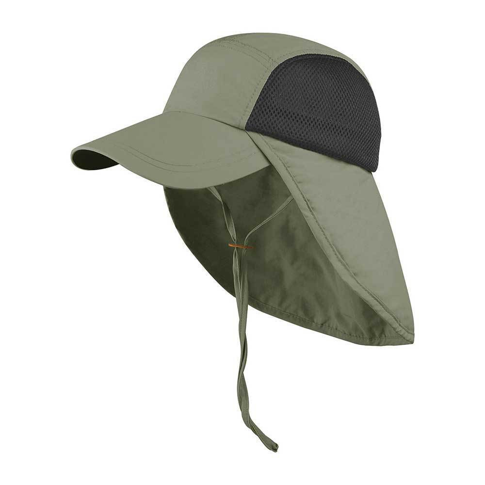 Taslon UV Cap With Flap & Chin Cord