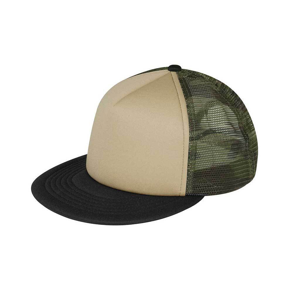 Trucker Flat Bill Snap Back Cap