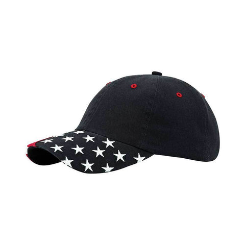 Unstructured Washed USA Cap