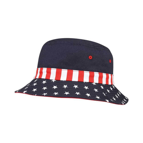 USA flag bucket hat – ISelections 9195a3b1dcb