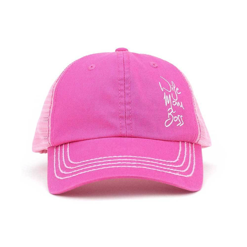 Wife Mom Boss Trucker Cap