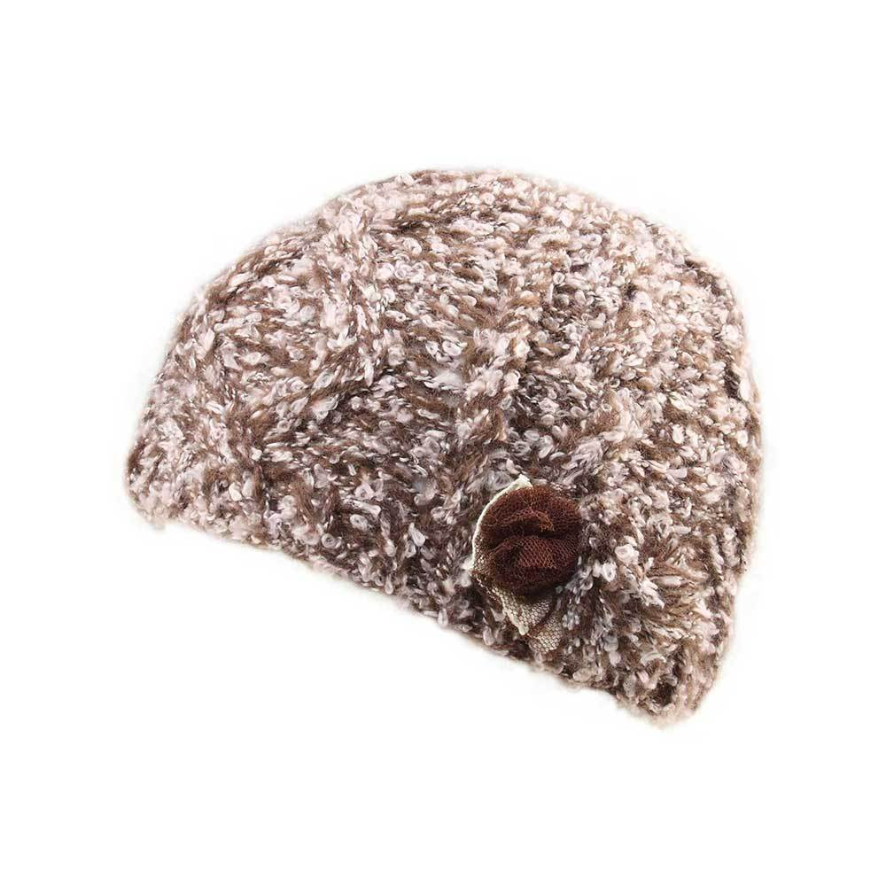 Women's Flower Knitted Beanie