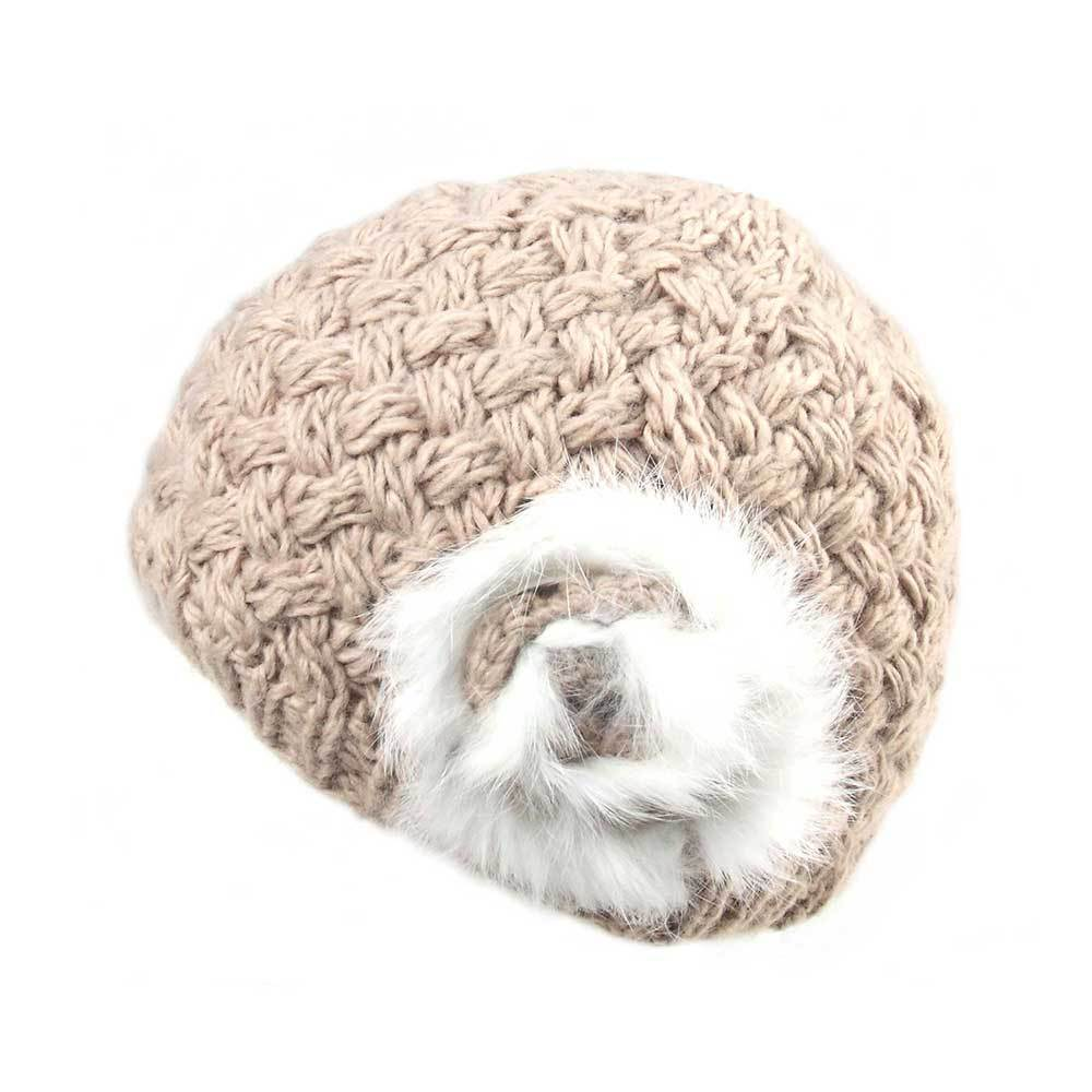 Women's Furry Fashion Knitted Beanie