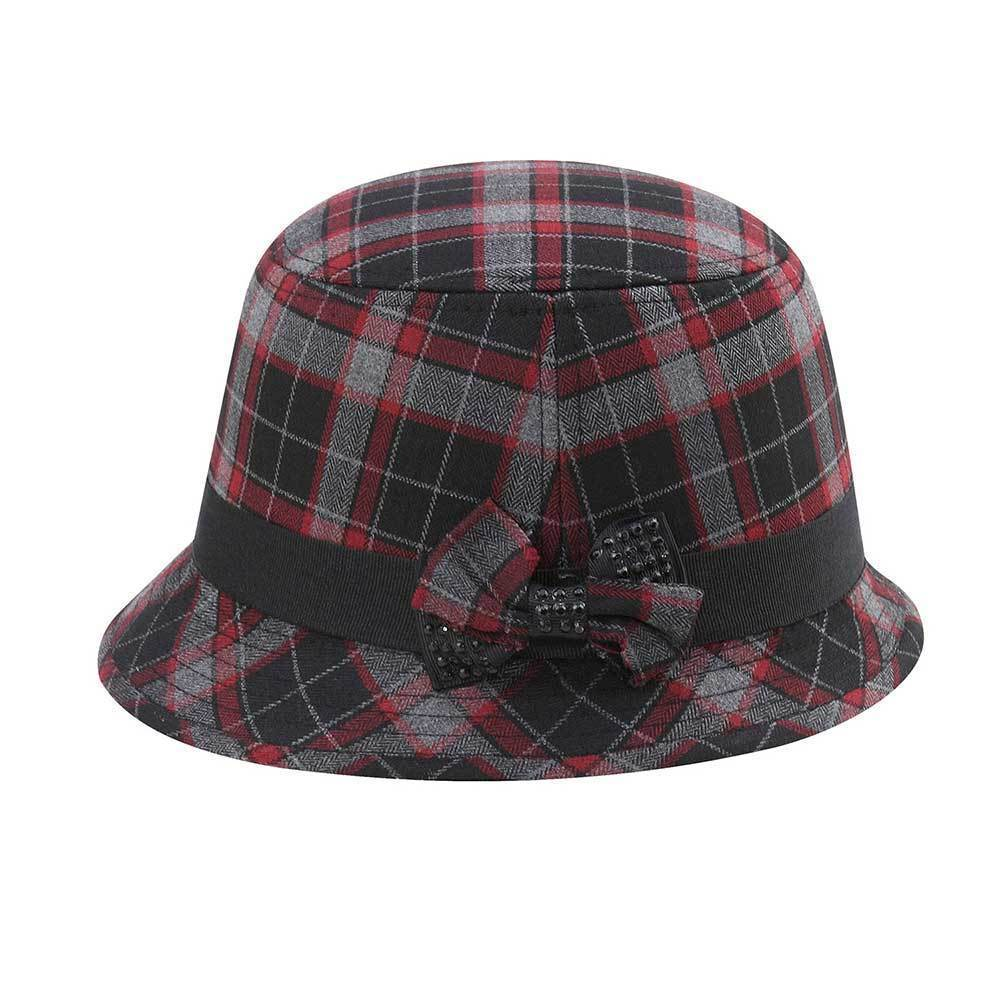 Women's Wool Plaid Cloche Hat